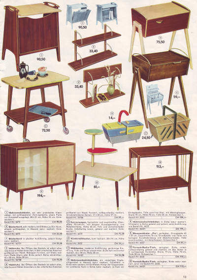 konsum katalog versandhandel 1962 wohnen in der ddr seite 12 13. Black Bedroom Furniture Sets. Home Design Ideas