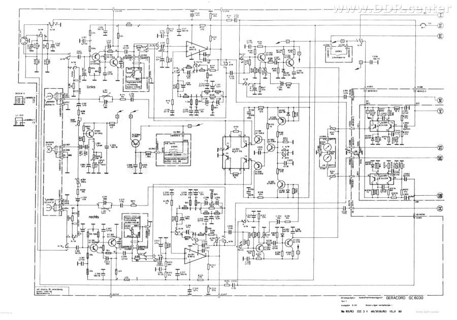 Schaltplan GERACORD GC6030 1 - VEB Elektronik Gera - DDR Bilder & Fotos