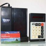 DDR Taschenrechner Minirex 75 mit Ladestation