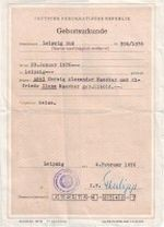 Geburtsurkunde 1976
