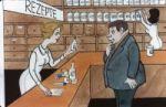 in der Apotheke - Zeichnung