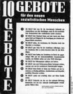10 Gebote für den neuen sozialistischen Menschen