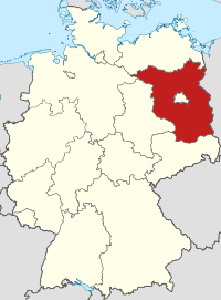 Lage von Brandenburg in Deutschland
