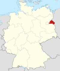 Lage von Märkisch-Oderland in Deutschland