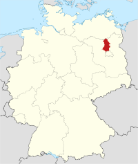 Lage von Oberhavel in Deutschland