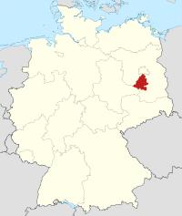 Lage von Teltow-Fläming in Deutschland