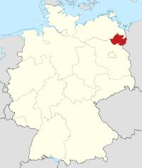 Lage von Uckermark in Deutschland
