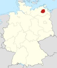 Lage von Demmin in Deutschland