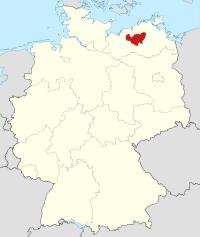 Lage von Güstrow in Deutschland
