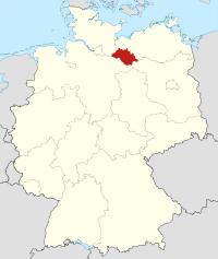 Lage von Ludwigslust in Deutschland