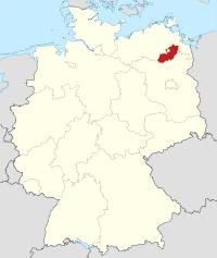 Lage von Mecklenburg-Strelitz in Deutschland