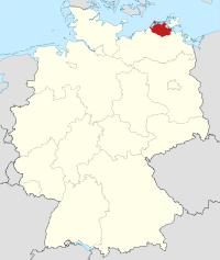 Lage von Nordvorpommern in Deutschland