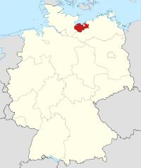 Lage von Nordwestmecklenburg in Deutschland