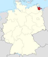 Lage von Ostvorpommern in Deutschland