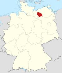 Lage von Parchim in Deutschland