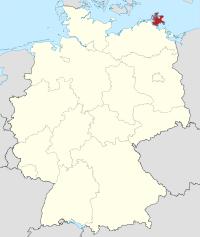 Lage von Rügen in Deutschland