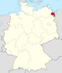 Lage von Uecker-Randow in Deutschland