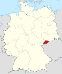 Lage von Erzgebirgskreis in Deutschland