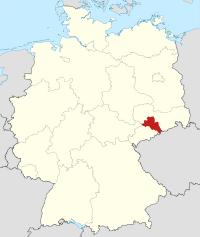 Lage von Mittelsachsen in Deutschland