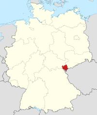 Lage von Vogtlandkreis in Deutschland