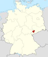 Lage von Zwickau in Deutschland