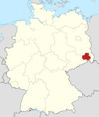 Lage von Bautzen in Deutschland