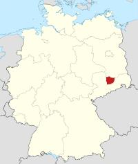 Lage von Meißen in Deutschland
