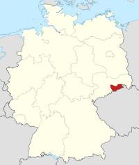 Lage von Sächsische Schweiz-Osterzgebirge in Deutschland