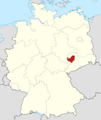 Lage von Leipzig in Deutschland