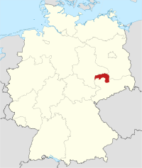 Lage von Nordsachsen in Deutschland