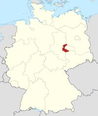 Lage von Anhalt-Bitterfeld in Deutschland