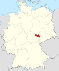 Lage von Burgenlandkreis in Deutschland
