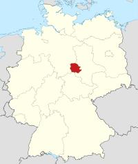 Lage von Harz in Deutschland