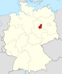 Lage von Jerichower Land in Deutschland
