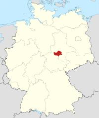 Lage von Mansfeld-Südharz in Deutschland