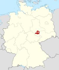 Lage von Saalekreis in Deutschland