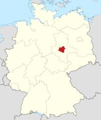 Lage von Salzlandkreis in Deutschland