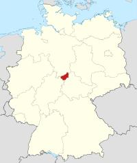 Lage von Eichsfeld in Deutschland