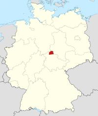 Lage von Nordhausen in Deutschland