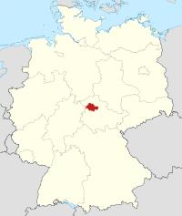 Lage von Unstrut-Hainich-Kreis in Deutschland