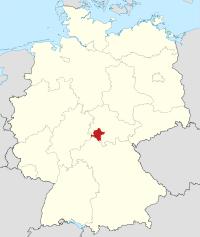 Lage von Schmalkalden-Meiningen in Deutschland