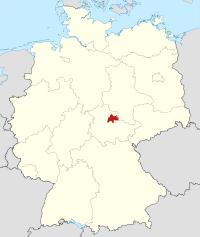 Lage von Sömmerda in Deutschland