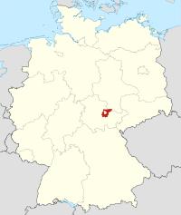 Lage von Weimarer Land in Deutschland
