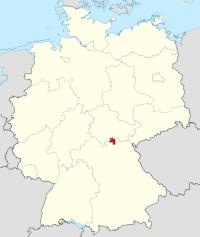 Lage von Sonneberg in Deutschland