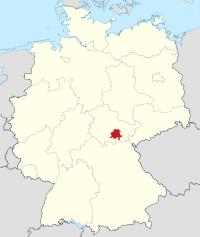 Lage von Saalfeld-Rudolstadt in Deutschland