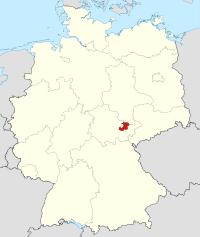 Lage von Saale-Holzland-Kreis in Deutschland