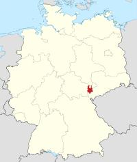 Lage von Greiz in Deutschland