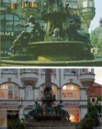 Erfurt Ankerbrunnen 1949 und 2009