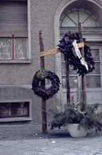 Gedenkstätte für einen Toten an der Grenze in der Bernauerstraße