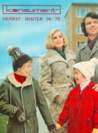 KONSUMENT Versandhandel Katalog Winter 1975